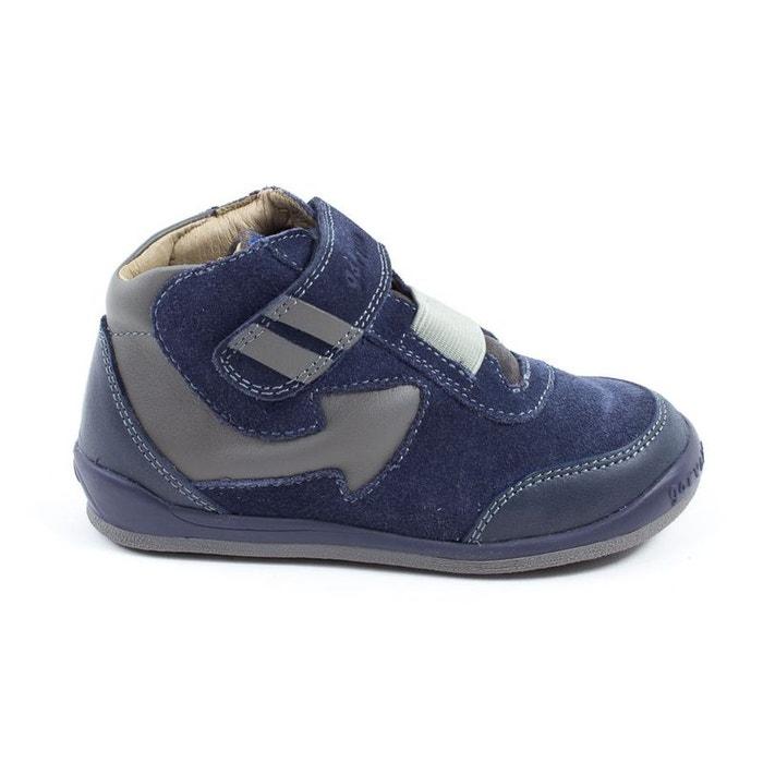 Baskets bleues garçon à scratch Garvalin 161452B ljE8QU1