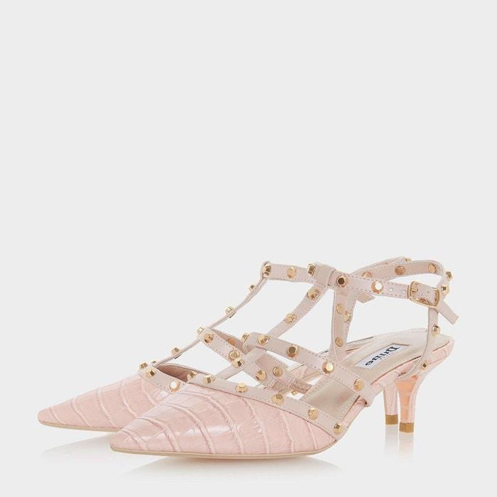Chaussures à talons bobines et bride cloutée - casterly Dune London