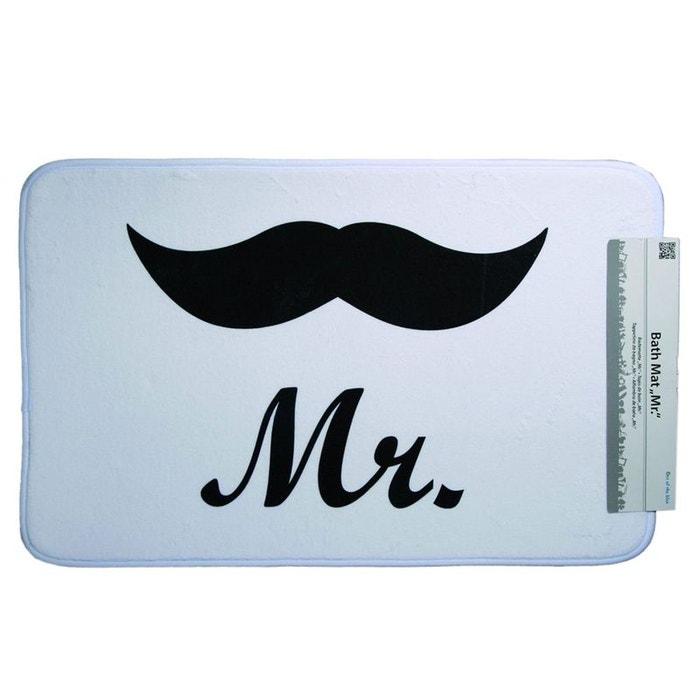 Tapis de sol pour salle de bain mr moustache couleur - La redoute tapis salle de bain ...
