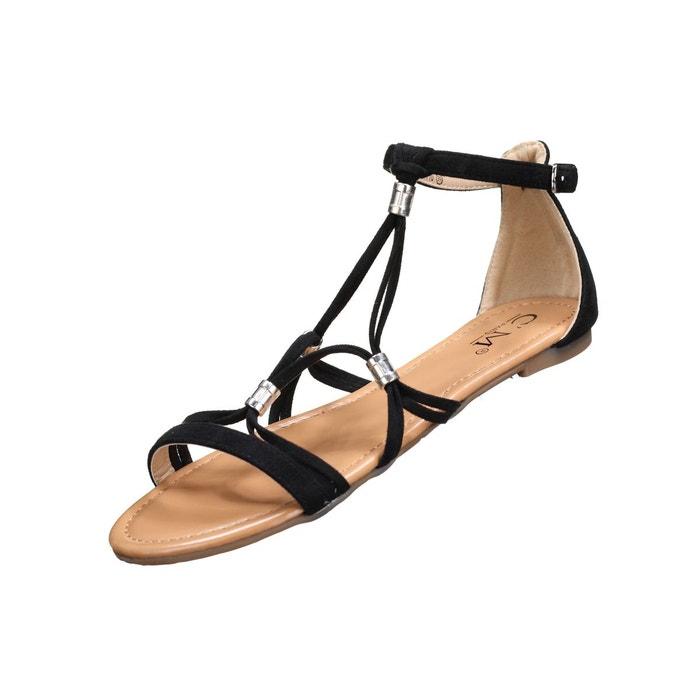 Sandales à détail métallique  noir Leader Mode  La Redoute
