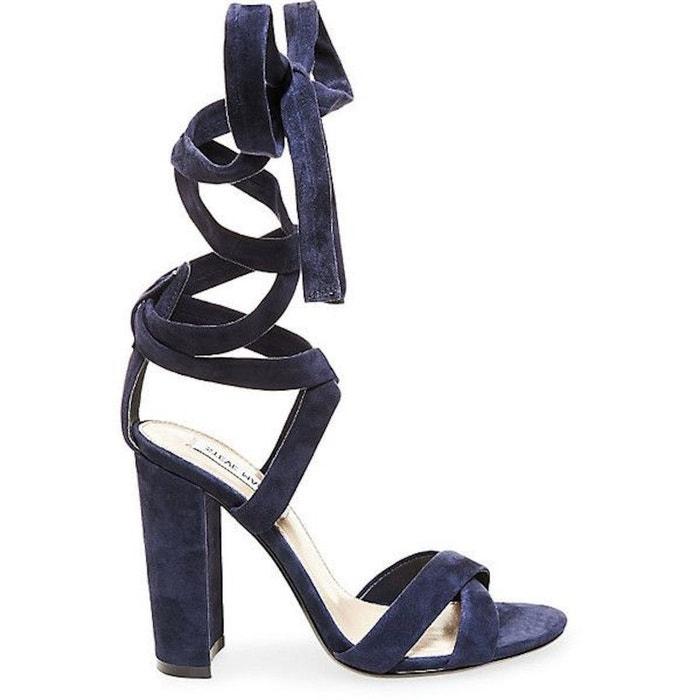 Sandale à talon et lacets montants bleu marine Steve Madden   La Redoute 65a74f9787e9