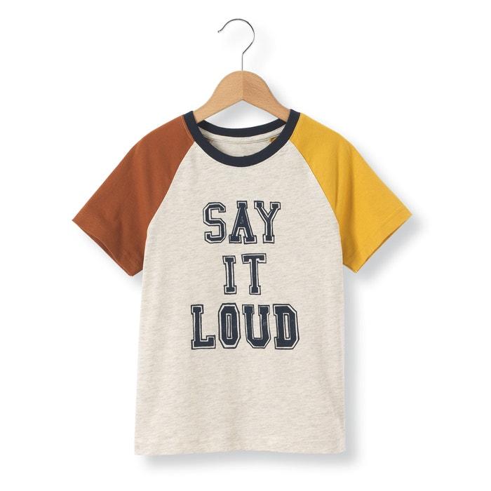 Imagen de Camiseta tricolor con mensaje, 3-12 años abcd'R