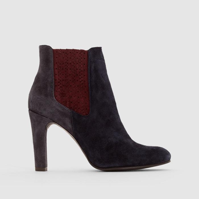boots cuir talon haut mademoiselle r la redoute. Black Bedroom Furniture Sets. Home Design Ideas
