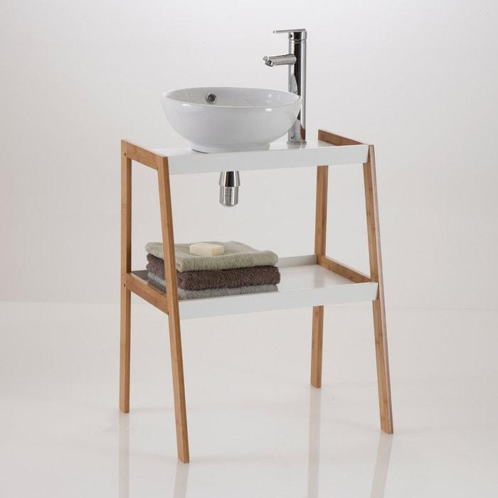 Image Meuble sous lavabo, 2 étagères Lindus La Redoute Interieurs
