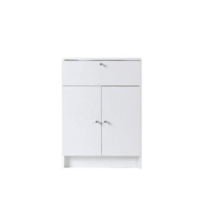 Petite armoire de salle de bain en imitation bois blanche medicisse ...