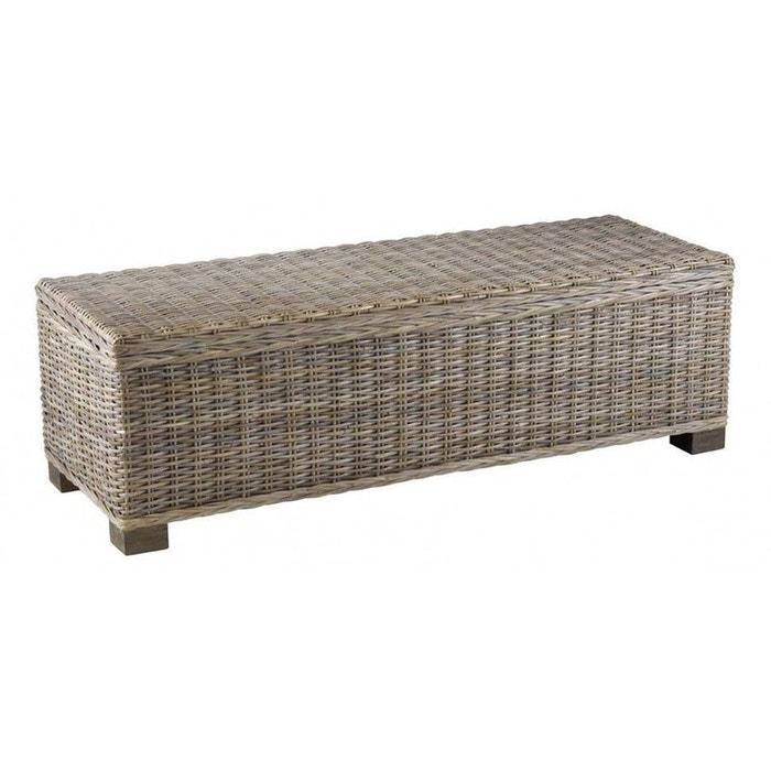 Bout de lit coffre kubu gris jardindeco la redoute - La redoute lit coffre ...