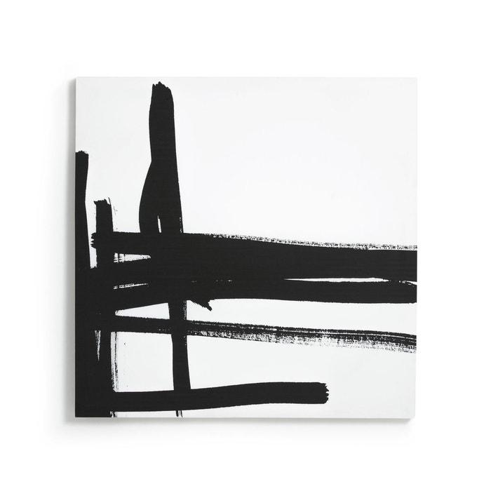 impression sur toile motif 1 dystila noir am pm la redoute. Black Bedroom Furniture Sets. Home Design Ideas