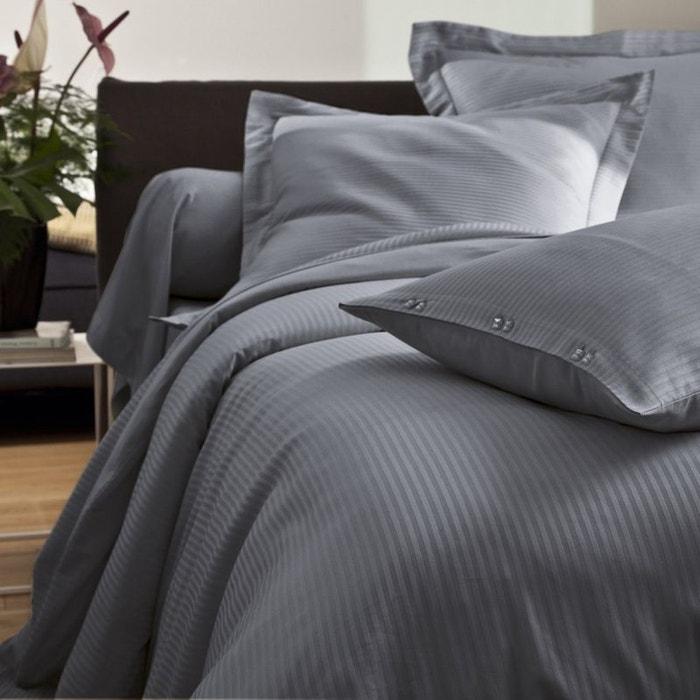 taie d 39 oreiller unie satin jacquard satin 80fils tradition des vosges la redoute. Black Bedroom Furniture Sets. Home Design Ideas