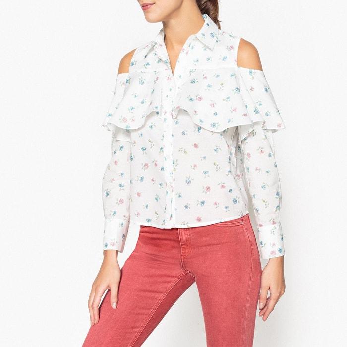 chemise volants manches longues arpege blanc paul and joe sister la redoute. Black Bedroom Furniture Sets. Home Design Ideas
