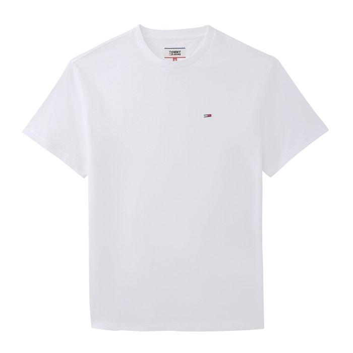 d942da609 T-shirt de gola redonda, em algodão bio Tommy Jeans | La Redoute