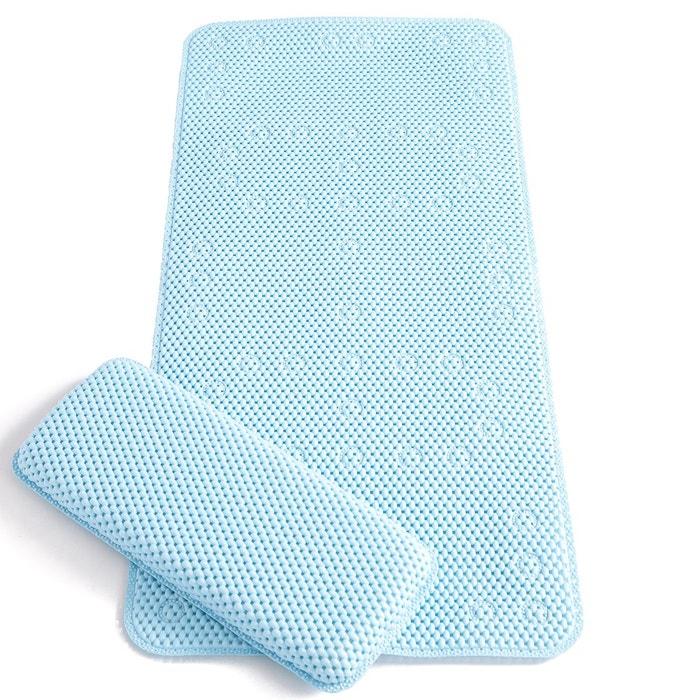 Tapis de bain clevamama bleu couleur unique clevamama la redoute - Redoute tapis de bain ...