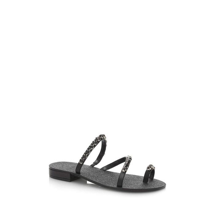 Sandales fortina applications bijou  noir Guess  La Redoute