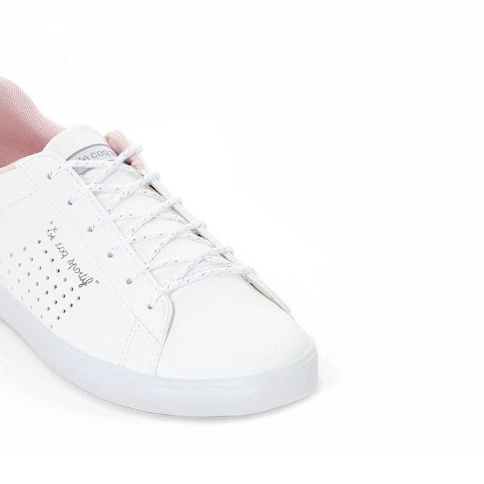 Baskets agate lo s lea/metallic mesh blanc Le Coq Sportif