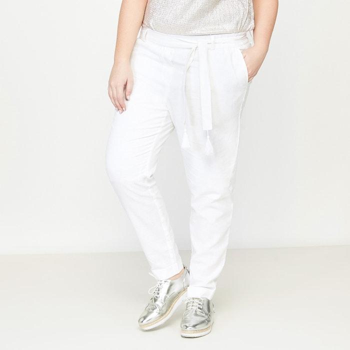 Linen and Cotton Mix Trousers  CASTALUNA PLUS SIZE image 0
