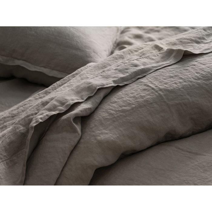 drap plat lin lav uni couleur lin lin blanc cerise la redoute. Black Bedroom Furniture Sets. Home Design Ideas
