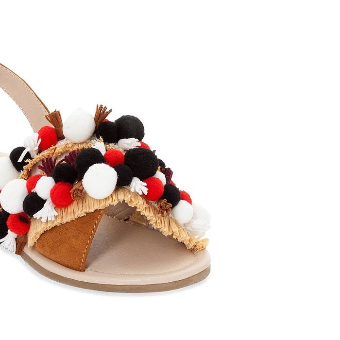 Sandales détail pompons La Redoute Collections