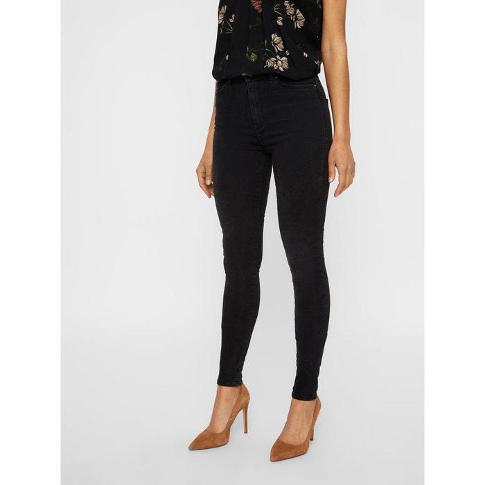 7bcd66b622 Jean skinny taille haute noir black Vero Moda | La Redoute