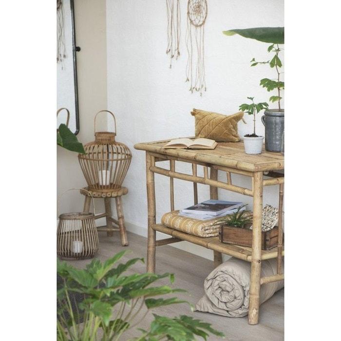 table console rustique bois de bambou bois clair ib. Black Bedroom Furniture Sets. Home Design Ideas