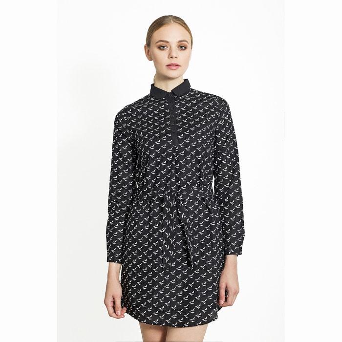afbeelding Bedrukte jurk met hemdskraag MIGLE+ME