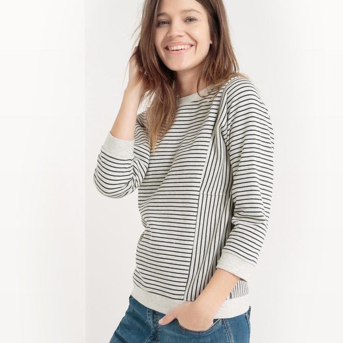 Striped Crew Neck Sweatshirt