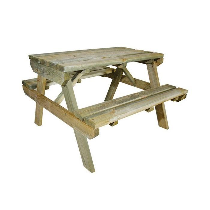 table de pique nique en bois chinchilla pour enfant bois. Black Bedroom Furniture Sets. Home Design Ideas