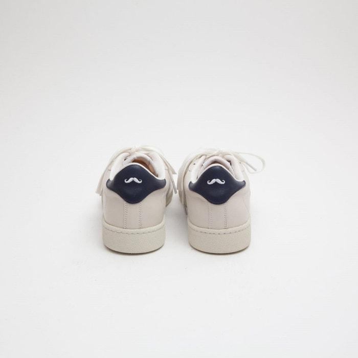 Baskets en cuir anatole blanc M. Moustache