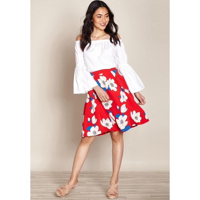 Floral Print Skater Skirt  YUMI image 0