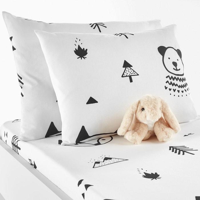 taie d oreiller b b forest camp noir blanc la redoute interieurs la redoute. Black Bedroom Furniture Sets. Home Design Ideas