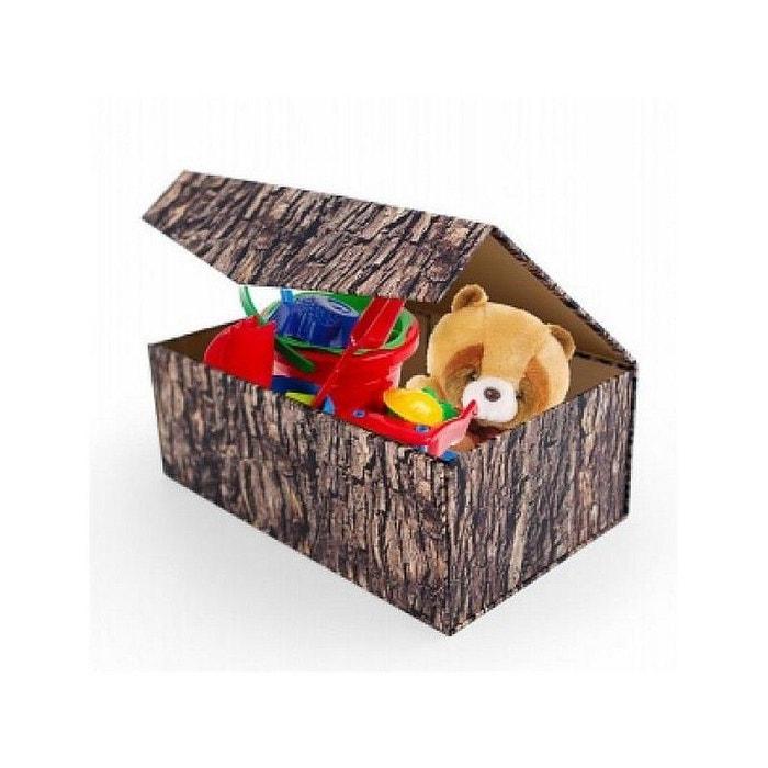 coffre rangement jouets pliable woodblock kikkerland l multicolore kikkerland la redoute. Black Bedroom Furniture Sets. Home Design Ideas