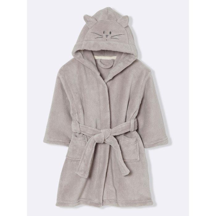 Robe de chambre enfant polaire chat cyrillus la redoute - Robes de chambre enfants ...
