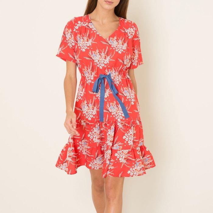 Robe leonard rouge la brand boutique la redoute - Boutique la redoute paris ...