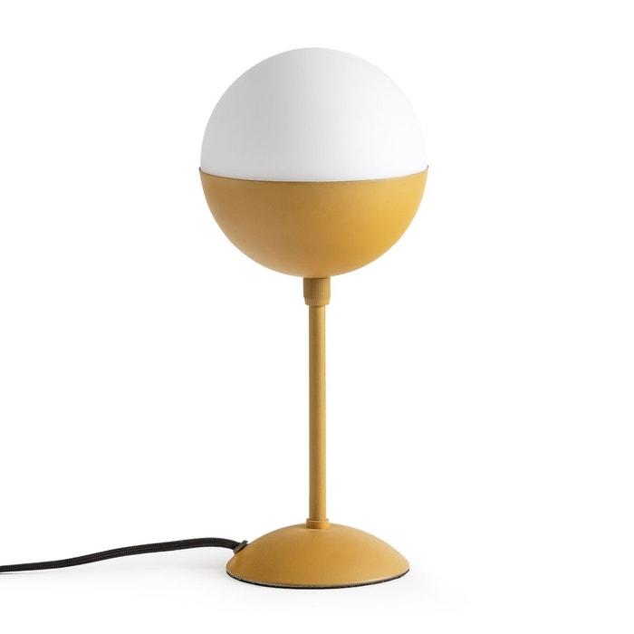 lampe de chevet m tal et opaline chupa la redoute. Black Bedroom Furniture Sets. Home Design Ideas
