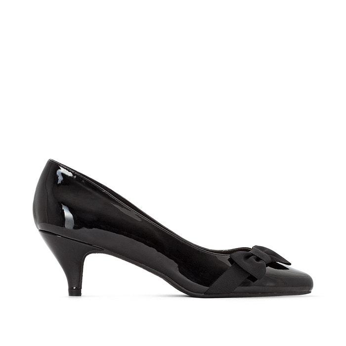 Wide Fit Patent Heels with Bow Trim, Sizes 38-45  CASTALUNA image 0