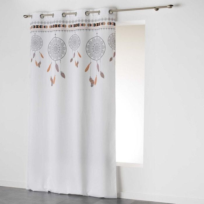 rideau oeillets collection attrape reves indilla top blanc menthe douceur d 39 int rieur la redoute. Black Bedroom Furniture Sets. Home Design Ideas