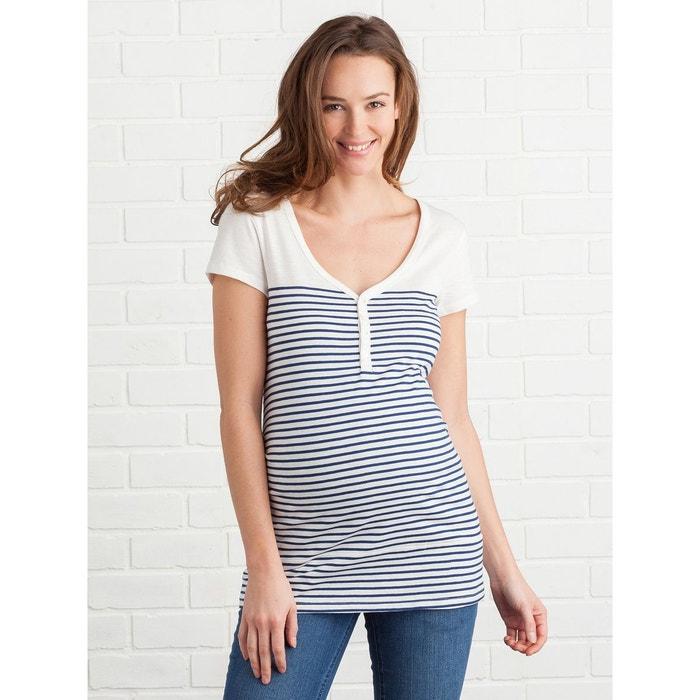 T-shirt tunisien grossesse et allaitement manches courtes VERTBAUDET