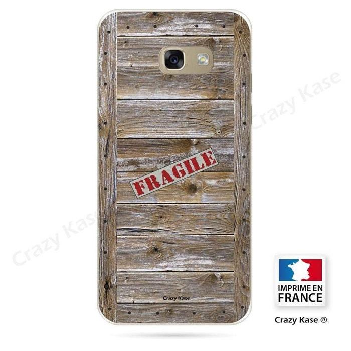 Coque pour Samsung Galaxy A5 (2016) souple effet Caisse en bois
