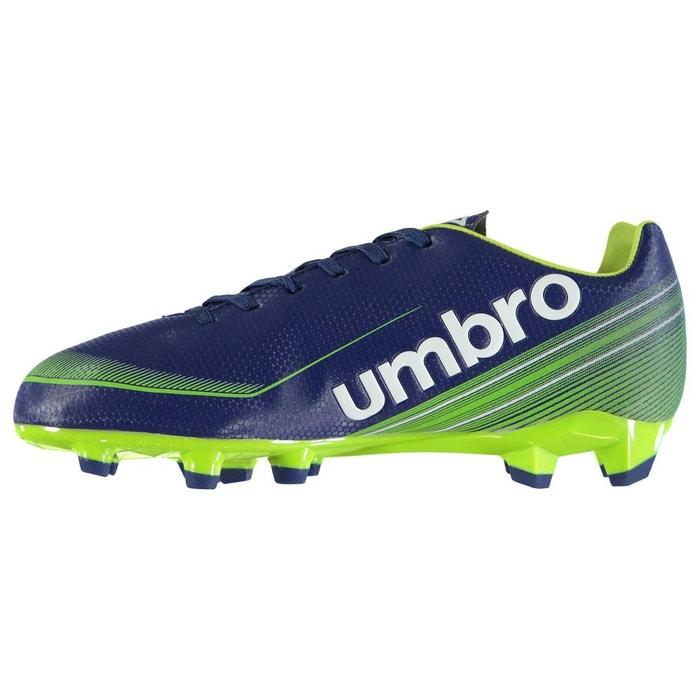 Chaussures de foot sol dur bleu marine/vert/blanc Umbro