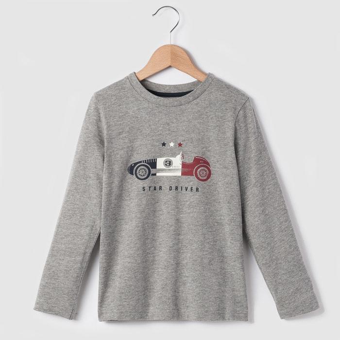 Image T-shirt manches longues voiture 3-12 ans La Redoute Collections