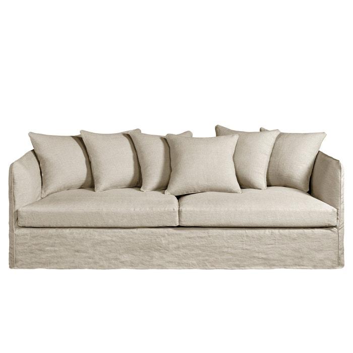 vaste canap neo chiquito gekreukt linnen am pm la redoute. Black Bedroom Furniture Sets. Home Design Ideas