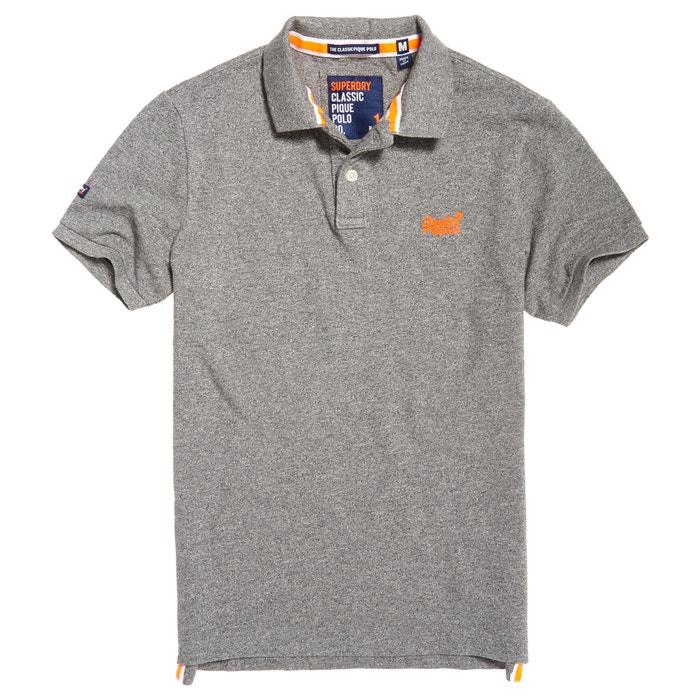 Short-Sleeved Plain Polo Shirt