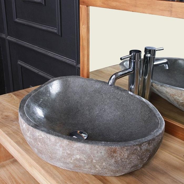 Vasque en pierre de rivière naturelle pierre naturelle Bois Dessus Bois  Dessous   La Redoute 6bf7a05bd764