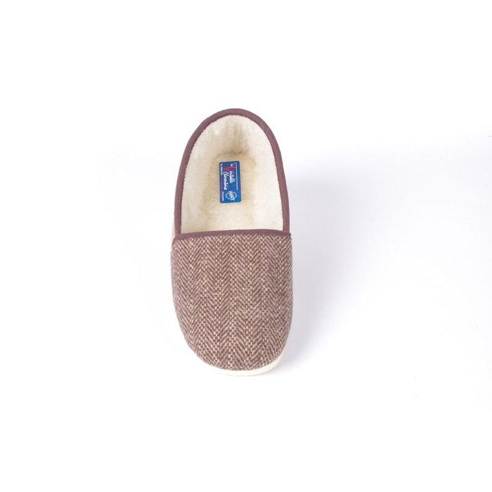 Chausson charentaise confort laine bicolore marron La Veritable Charentaise