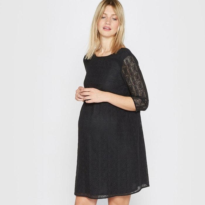 robe de grossesse en dentelle la redoute collections en. Black Bedroom Furniture Sets. Home Design Ideas