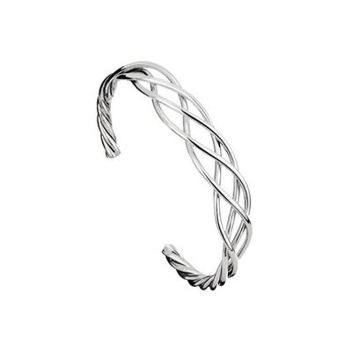 Bracelet manchette fils en argent 925 passivé, 19.6g, ø60mm argent Canyon | La Redoute