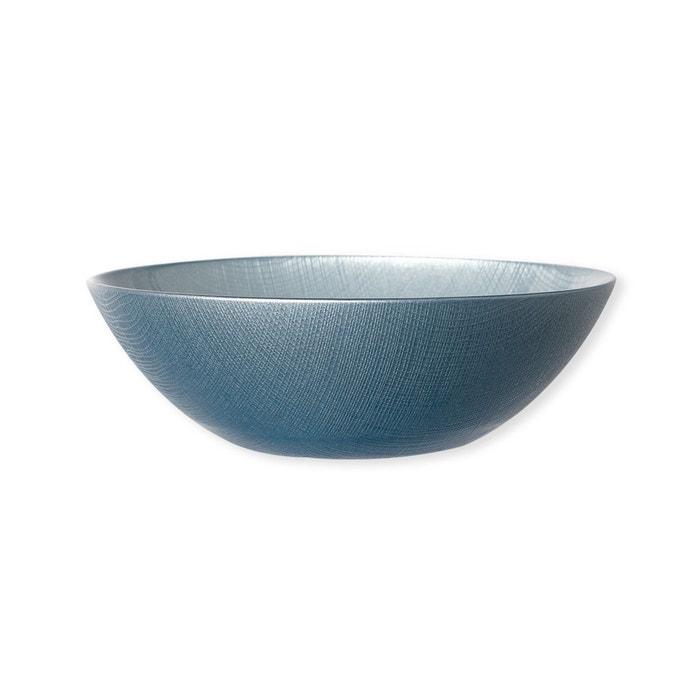 assiette creuse en verre bleu 20cm lot de 6 astrid bleu canard bleu fonc bruno evrard la. Black Bedroom Furniture Sets. Home Design Ideas