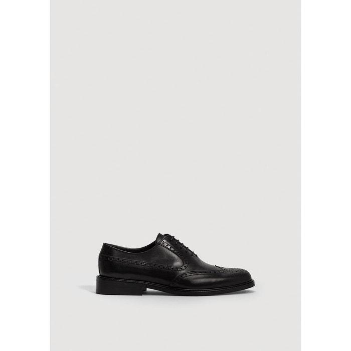 Chaussures oxford cuir  noir Mango Man  La Redoute