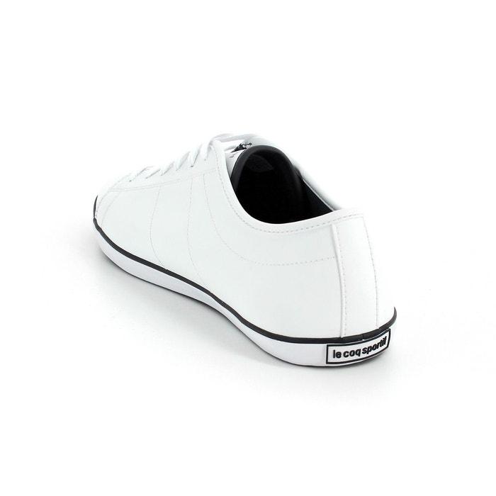Le coq sportif slimset s lea chaussures sneakers mode homme cuir blanc Le Coq Sportif