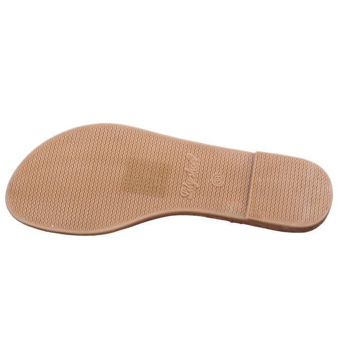 Sandales à lanières noir Leader Mode