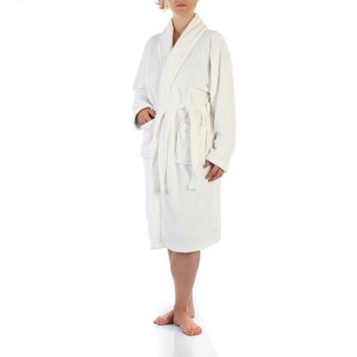 peignoir microfibre femme blanc blanc instant d o la. Black Bedroom Furniture Sets. Home Design Ideas