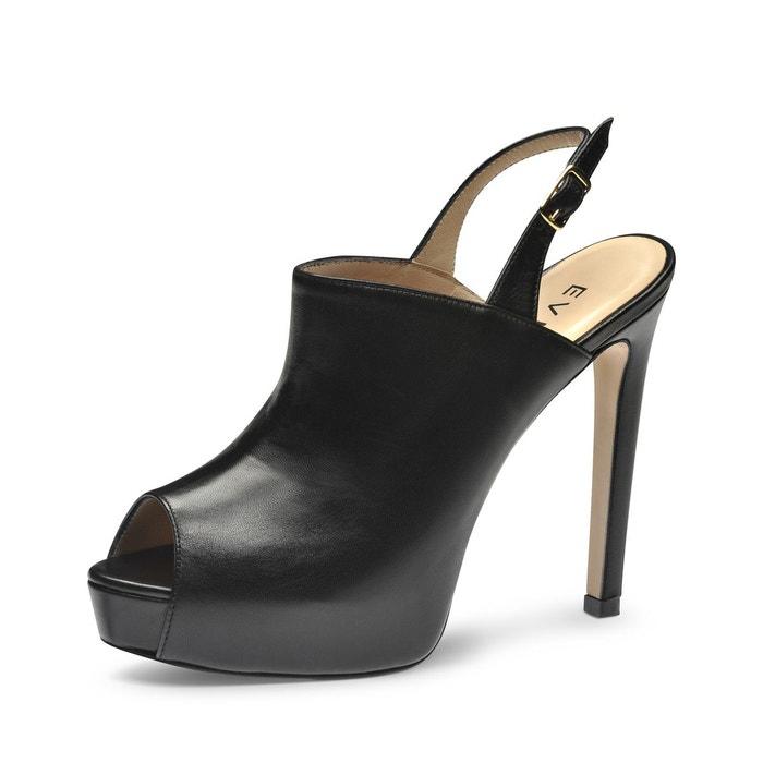 Magasin Vente En Ligne Sandales femme noir Evita Sortie Ebay ymbPQ